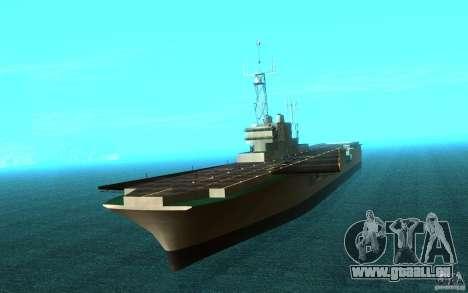 New Aircraft carrier für GTA San Andreas linke Ansicht