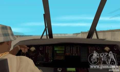 HH-60 Jayhawk USCG pour GTA San Andreas vue arrière