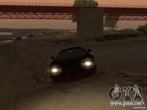 Bugatti Veyron Super Sport für GTA San Andreas Rückansicht