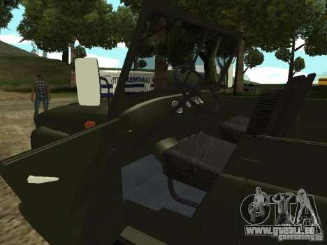 UAZ 469 für GTA San Andreas Rückansicht