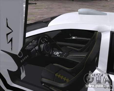 Lamborghini Murcielago LP670-4 SV für GTA San Andreas zurück linke Ansicht