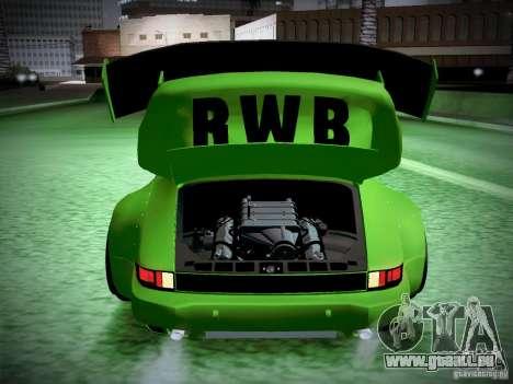 Porsche 911 Turbo RWB Pandora One pour GTA San Andreas vue de dessus