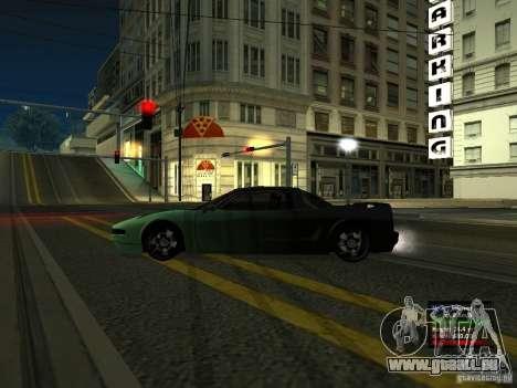 Teal Infernus pour GTA San Andreas laissé vue