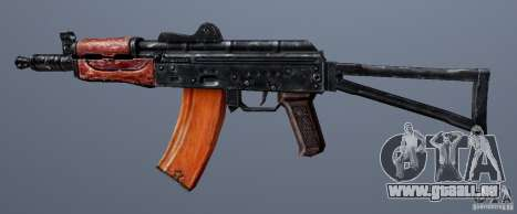 AKS74U pour GTA San Andreas troisième écran