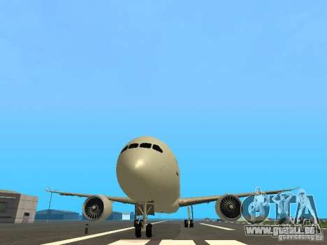 Boeing 787 Dreamliner Air Canada pour GTA San Andreas vue de côté