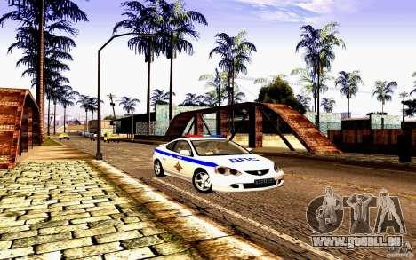 Acura RSX-S Polizei für GTA San Andreas Rückansicht