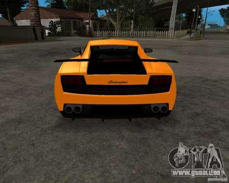 Lamborghini Gallardo LP570 Superleggera pour GTA San Andreas vue de côté