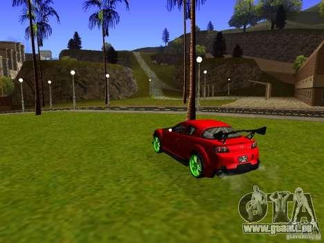 Mazda RX-8 R3 Tuned 2011 für GTA San Andreas zurück linke Ansicht