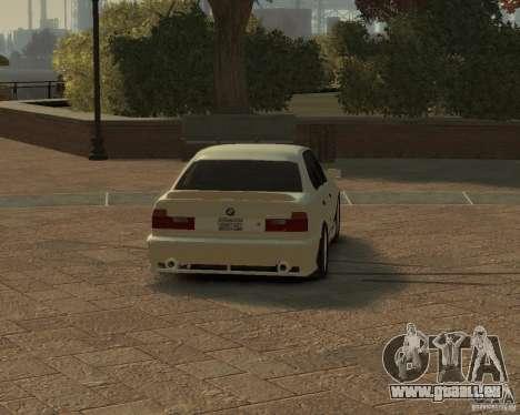 Bmw 535i (E34) tuning pour GTA 4 Vue arrière de la gauche