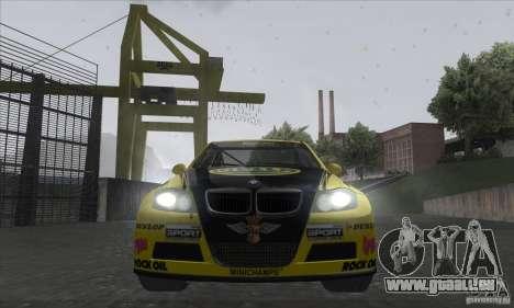 BMW 320i GRID pour GTA San Andreas vue intérieure