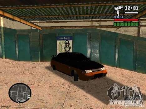 VAZ 2110 HERTZ-style (DAG) Orange pour GTA San Andreas laissé vue