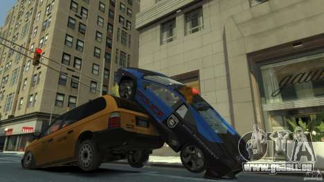 Lamborghini Reventon Police Hot Pursuit pour GTA 4 vue de dessus