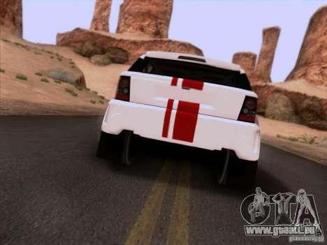 Bowler EXR S 2012 pour GTA San Andreas vue arrière