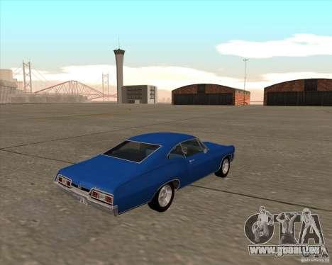Chevrolet Impala 427 SS 1967 pour GTA San Andreas vue arrière