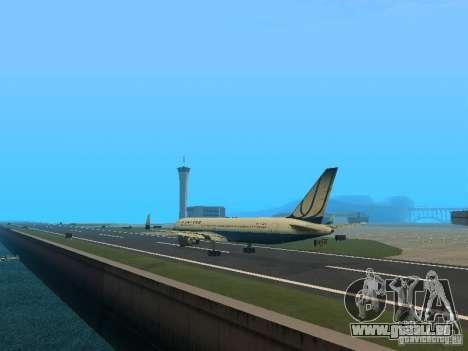 Boeing 767-300 United Airlines New Livery pour GTA San Andreas sur la vue arrière gauche