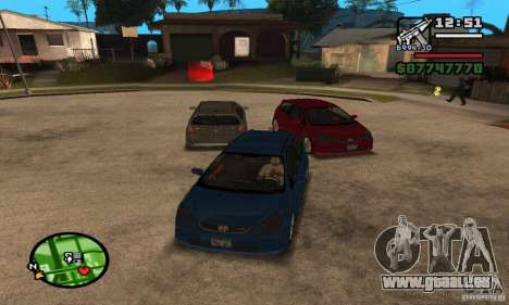 Honda Civic Type R stock für GTA San Andreas
