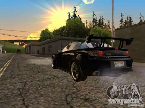 Mazda RX-8 Varis Custom für GTA San Andreas zurück linke Ansicht