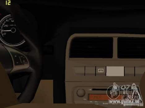 Fiat Linea T-jet pour GTA San Andreas vue arrière