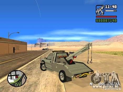 GMC Sierra Tow Truck pour GTA San Andreas sur la vue arrière gauche