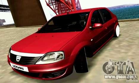 Dacia Logan 2008 pour GTA San Andreas vue arrière
