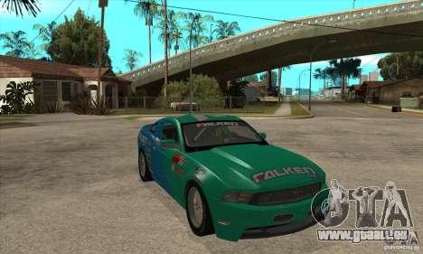 Ford Mustang GT Falken pour GTA San Andreas vue arrière