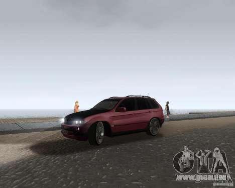 BMW X5 Sport Tun pour GTA San Andreas laissé vue