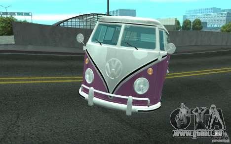 Volkswagen Transporter T1 SAMBAQ CAMPERVAN pour GTA San Andreas vue de dessous