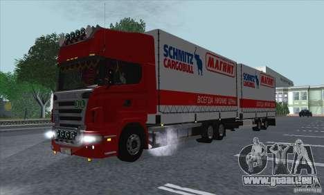 Remorque pour Scania R620 pour GTA San Andreas vue intérieure