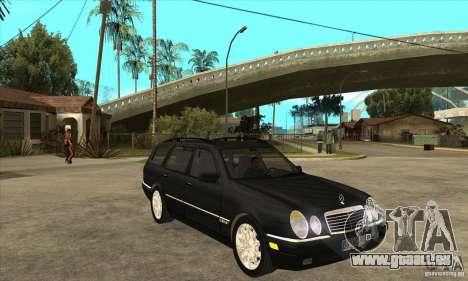Mercedes-Benz W210 E320 1997 pour GTA San Andreas vue arrière