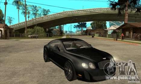 Bentley Continental Supersports pour GTA San Andreas vue arrière