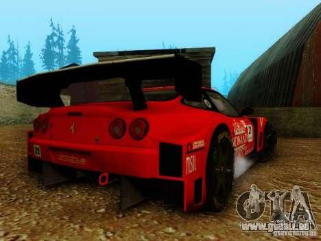 Ferrari 550 Maranello Super GT500 pour GTA San Andreas laissé vue
