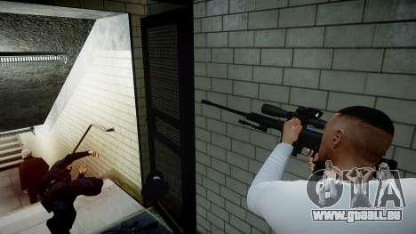 Barrett 98B (Sniper) für GTA 4 fünften Screenshot