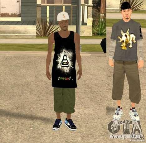 Cone Crew Skin pour GTA San Andreas deuxième écran
