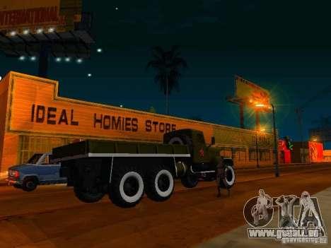 Camion KrAZ Parade pour GTA San Andreas laissé vue