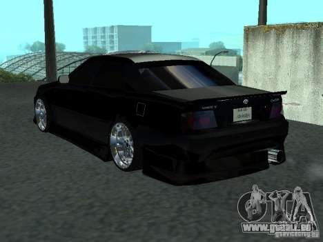 Toyota Chaser JZX 100 Tunable pour GTA San Andreas vue de droite