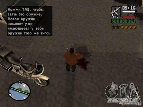 Neues Muster des Blutes für GTA San Andreas fünften Screenshot