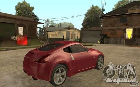 Nissan 370Z 2010 für GTA San Andreas rechten Ansicht