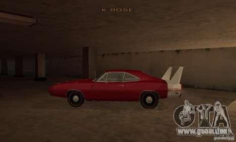 Dodge Charger Daytona 1969 pour GTA San Andreas laissé vue