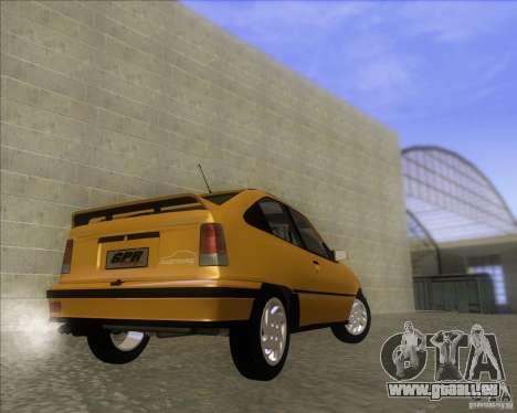 Chevrolet Kadett GSi 2.0 (1991-1995) pour GTA San Andreas sur la vue arrière gauche