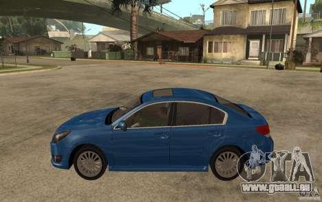 Subaru Legacy B4 2.5GT 2010 pour GTA San Andreas laissé vue