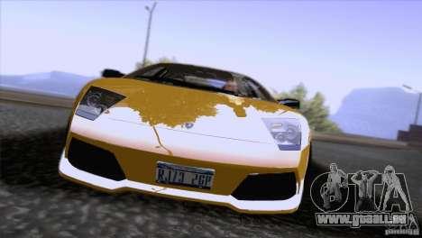 Lamborghini Murcielago LP640 2006 V1.0 pour GTA San Andreas vue intérieure