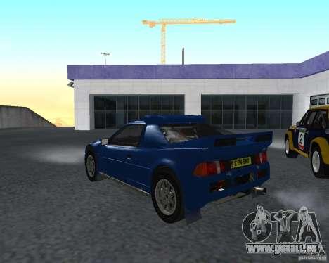 Ford RS 200 pour GTA San Andreas sur la vue arrière gauche