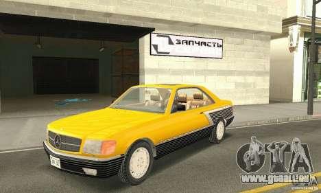 Mercedes-Benz W126 560SEC pour GTA San Andreas vue de dessus