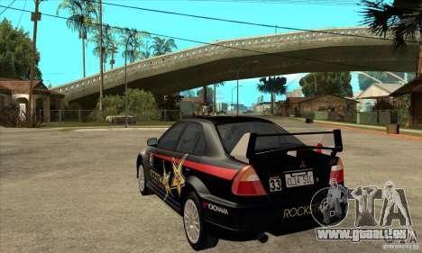 Mitsubishi Lancer Evo VI Tune pour GTA San Andreas sur la vue arrière gauche