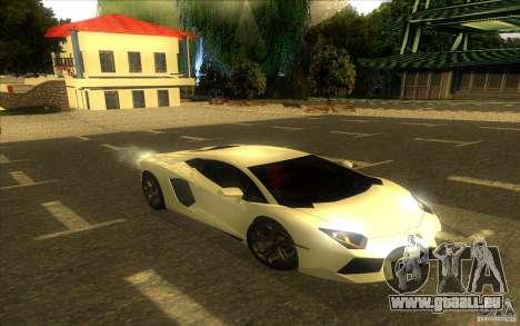 Lamborghini Aventador LP700-4 pour GTA San Andreas vue de dessous