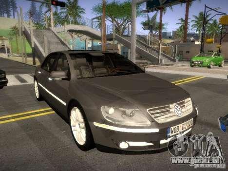Volkswagen Phaeton W12 pour GTA San Andreas laissé vue