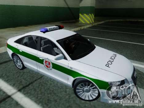 Audi A6 Police für GTA San Andreas linke Ansicht