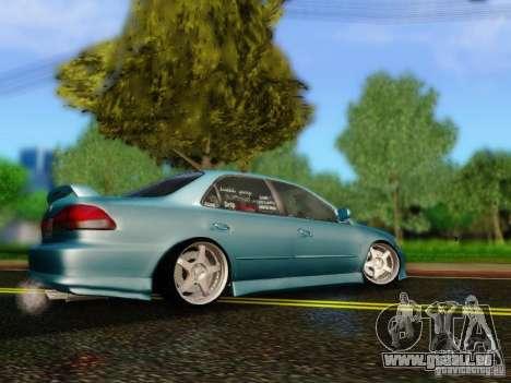 Honda Accord 2001 pour GTA San Andreas laissé vue