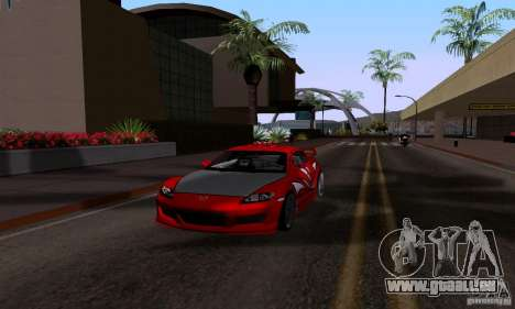 Mazda RX-8 Speed pour GTA San Andreas vue de droite