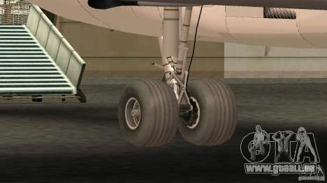 Boeing 727-200 Final Version für GTA San Andreas Rückansicht